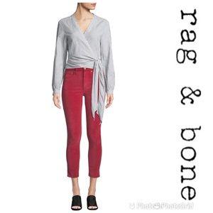 RAG & BONE Highrise Velvet Skinny Ankle Jeans 26